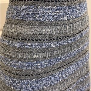 St. John Knits Blue Gray Skirt